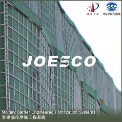 Joesco beige geotextile wire mesh military defense bastion